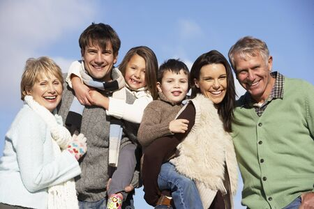 Portrait Of Family In The Park Stock Photo - 4513905