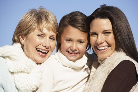 Portrait Of Grandmother, Mother And Daughter Stock Photo - 4513913