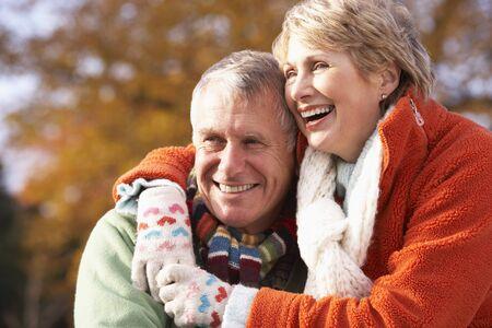 Portrait Of Senior Couple Hugging Stock Photo - 4513960