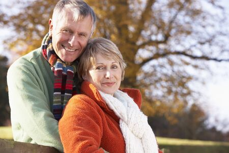 Portrait Of Senior Couple Hugging Stock Photo - 4513967