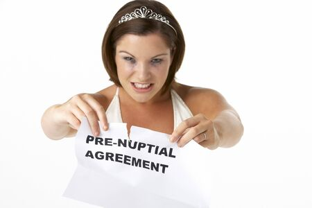 jilted: Bride Tearing Up Pre-Nuptial Agreement