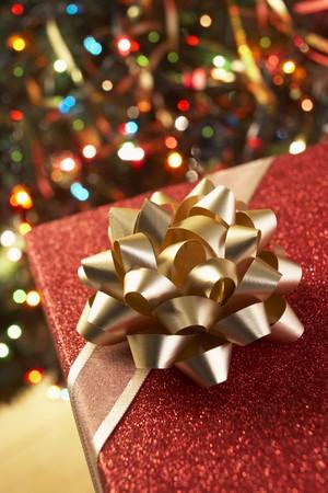 Christmas Present Under Christmas Tree Stock Photo - 4546318