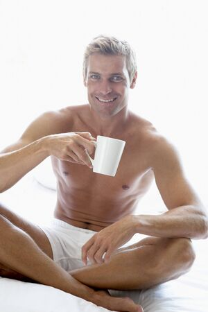 Mid Adult Man Drinking Coffee Stock Photo - 4546523