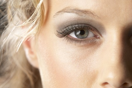 Close-Up Of Young Woman With Glamorous Make-Up Stock Photo - 4547106