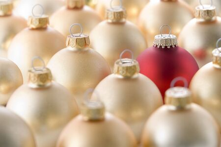 Selection Of Red And Gold Christmas Decorations photo