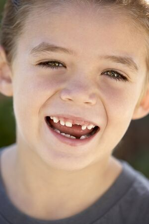 Portrait Of Boy Smiling photo