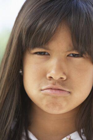Portrait Of Girl Pouting Stock Photo - 4547187