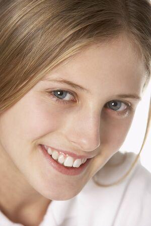 Portrait Of Pre-Teen Girl Smiling photo
