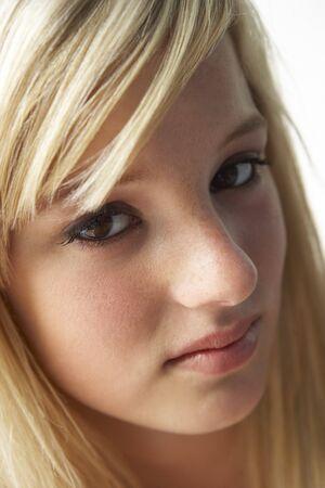teen girl face: Portrait Of Teenage Girl