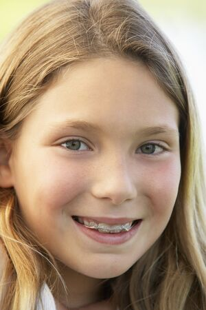 9 year old: Portrait Of Girl Smiling