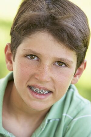 9 year old: Portrait Of Boy Smiling