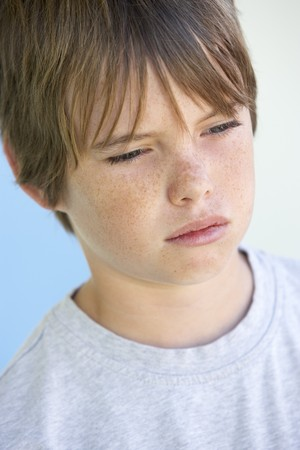 to cry: Portrait Of Boy Crying Stock Photo