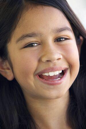 Portrait Of Girl Smiling Stock Photo