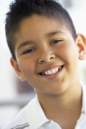 preadolescent: Portrait Of Boy Smiling