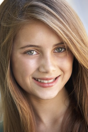 11 year old: Portrait Of Girl Smiling