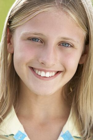 preadolescent: Portrait Of Girl Smiling