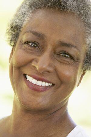 Senior Woman Smiling At The Camera photo