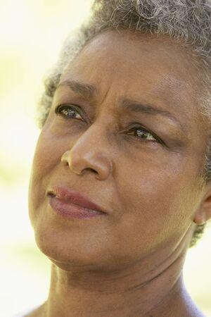 Portrait Of Senior Woman Looking Anxious Stock Photo - 4547646