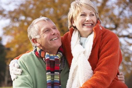 Portrait Of Senior Couple Hugging Stock Photo - 4547640
