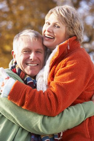 Portrait Of Senior Couple Hugging Stock Photo - 4547664