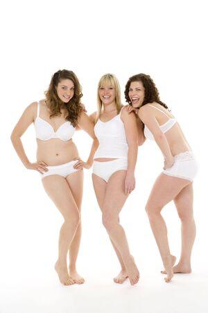 young woman panties: Portrait Of Women In Their Underwear