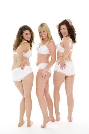 vrouw ondergoed: Portret van vrouwen in hun ondergoed Stockfoto