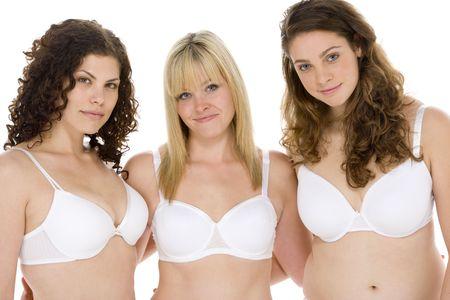 young woman in underwear: Portrait Of Women In Their Underwear