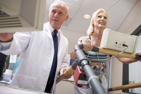 Doctor With Patient During Health Check photo