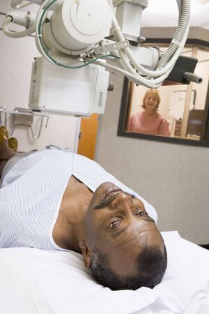 Patient Having An X-Ray photo