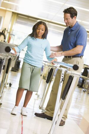 Physiotherapist With Patient In Rehabilitation Stock Photo - 4607134