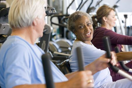 Patients Working Out In Gym photo
