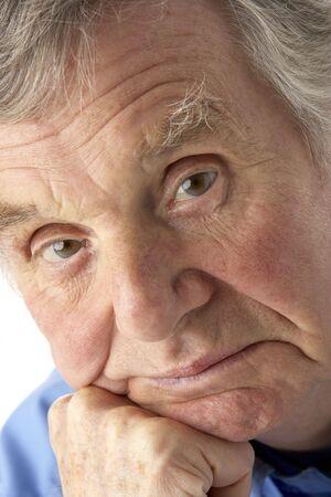 grumpy old man: Portrait of senior man
