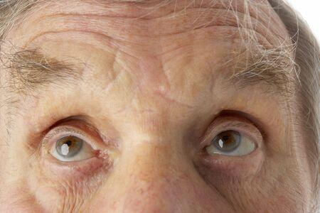 cropped shots: Close-up of senior man Stock Photo