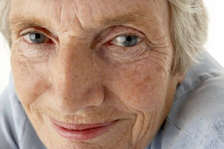 cropped shots: Portrait of senior woman smiling at the camera Stock Photo
