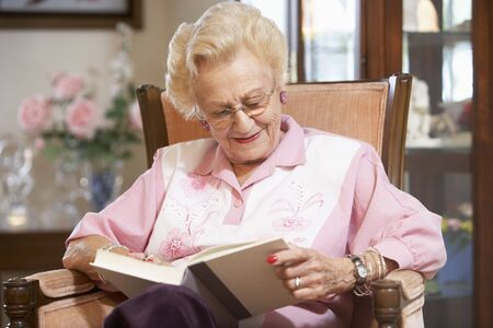 Senior woman reading book Stock Photo - 4607623