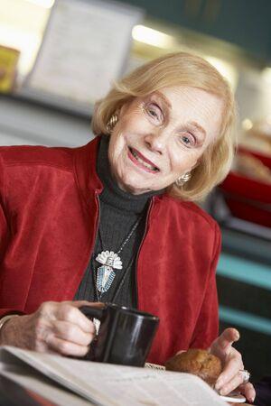 Senior woman drinking tea Stock Photo - 4607579