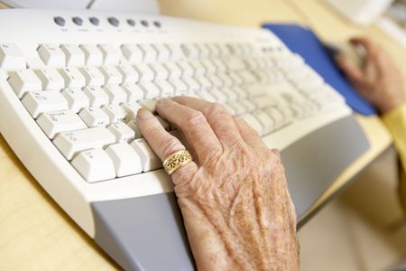 using computer: Person using computer