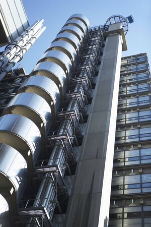 lloyds: Low Angle View Of The Lloyds Building In London, England