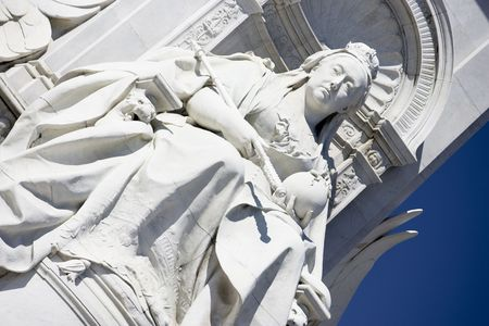 female likeness: Victoria Memorial In The Queens Gardens, London, England Stock Photo