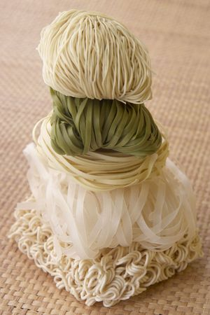Stack Of Different Noodles photo