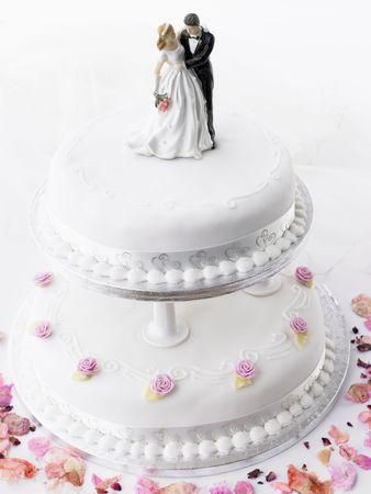 pastel de bodas: Pastel de boda de novia y el novio Figurines