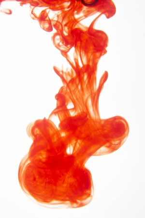 Red Ink Mixing With Water