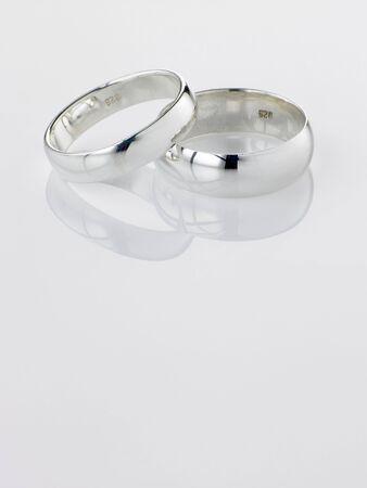 bodas de plata: Plata Anillos de boda