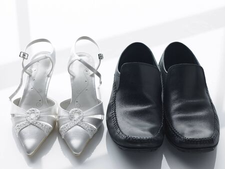 Bride And Groom's Shoes Side By Side Stock Photo - 4638893