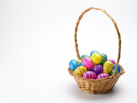 Basket Of Colorful Easter Eggs Stock Photo - 4638483