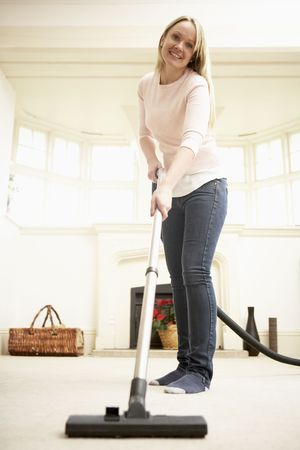 Young Woman Doing Housework photo