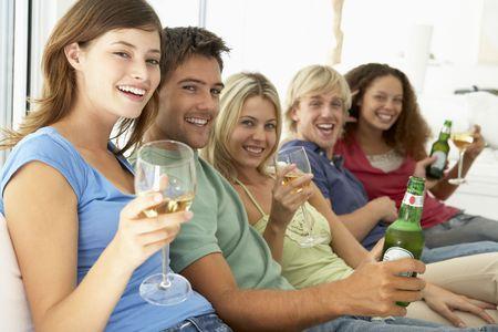 room mate: Friends Enjoying A Drink Together