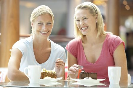 Female Friends Having Lunch Together At The Mall Stock Photo - 4645090