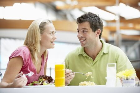 Couple Having Lunch At The Mall photo