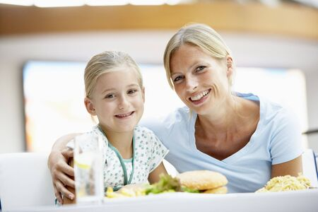 Mother And Daughter Having Lunch Together At The Mall Stock Photo - 4645065